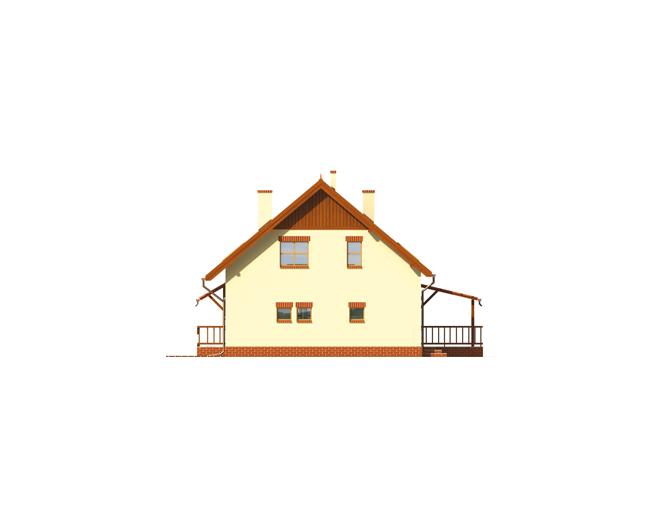 Side facade